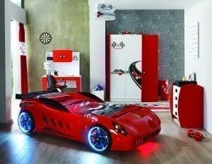 F555 GTO Race Car Bed - Red