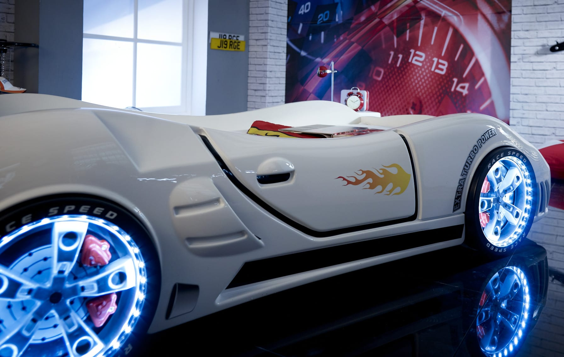 Speedster Ventura Race Car Bed White