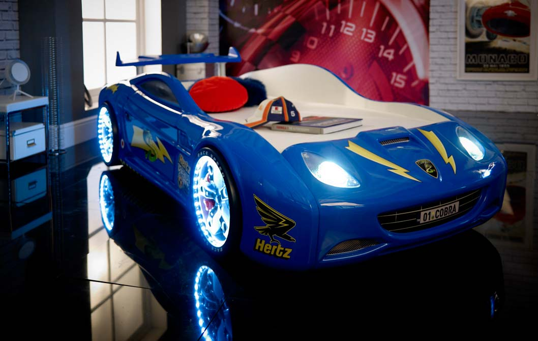 viper race car bed blue