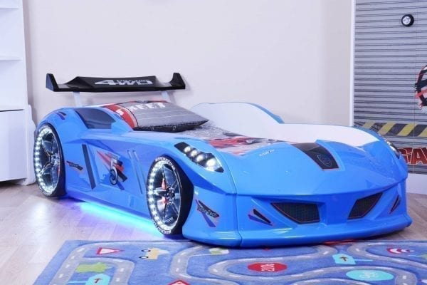 Thunder Race Car Bed - Blue