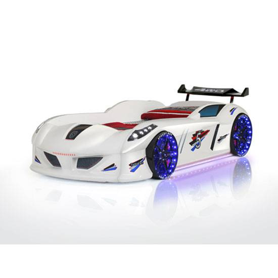 Thunder Racing Car Bed - White