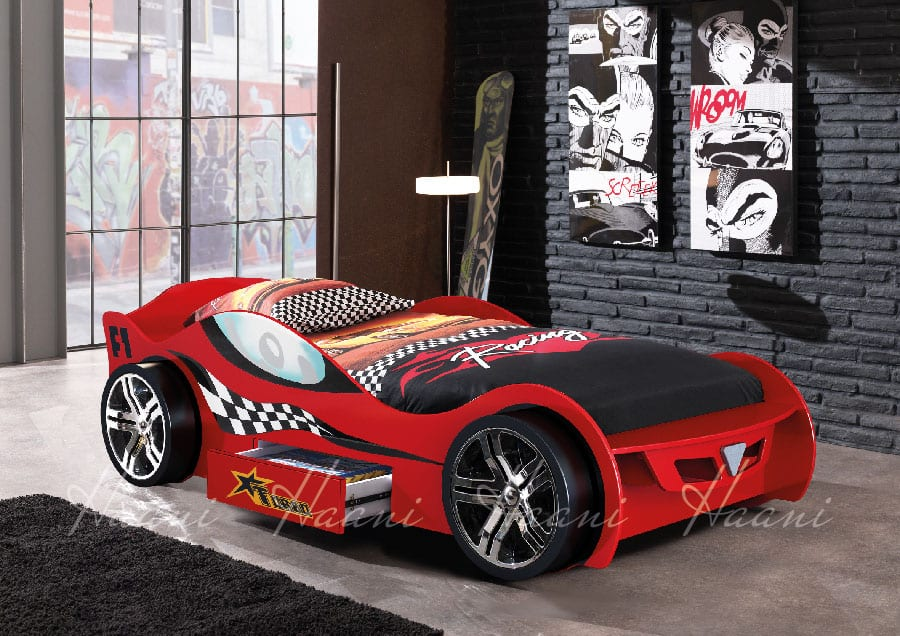 Turbo Racing Car Bed Red