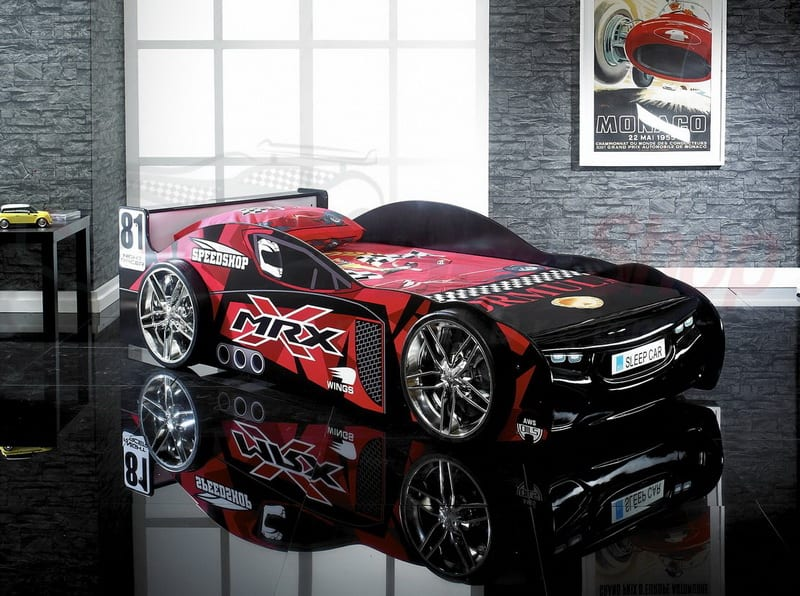 MRX Sport Black Race Car Bed