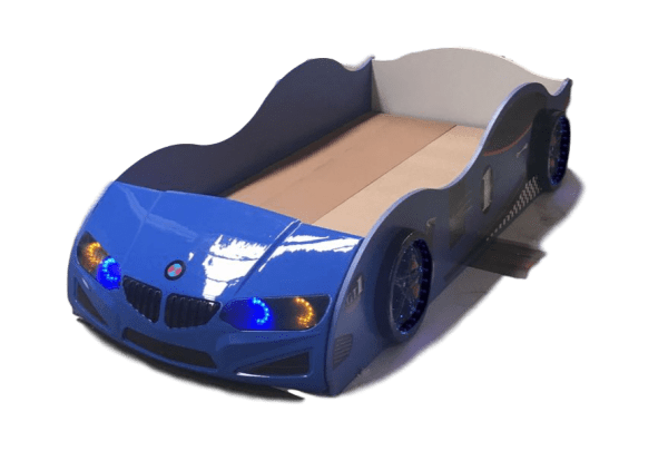 BLUE CAR BED