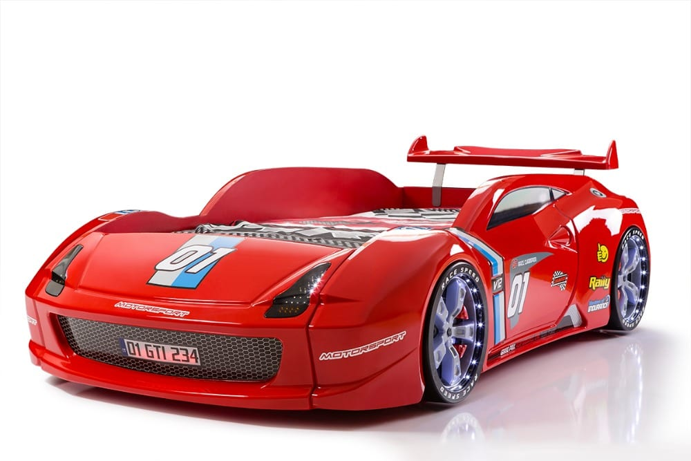 Lamborghini M7 Race Car Bed In Red With Spoiler Car Bed Shop